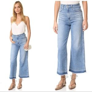 NEW AG Denim Yvette High Rise wide leg jeans